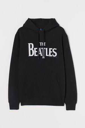 Hoodie - Black/The Beatles - Men | H&M US