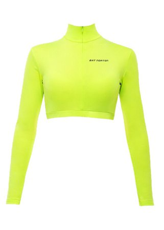 Bat Norton Neon Green Crop Top