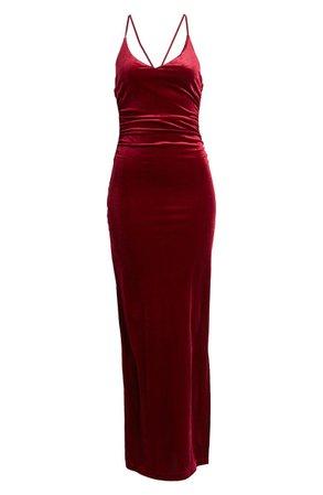 Crossback Velvet Gown   Nordstrom