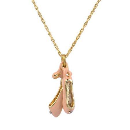 ballet shoes necklace