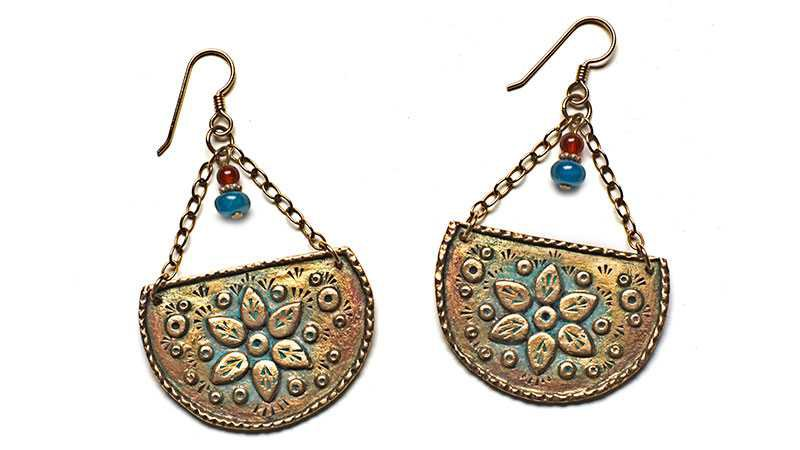 bronze clay earrings