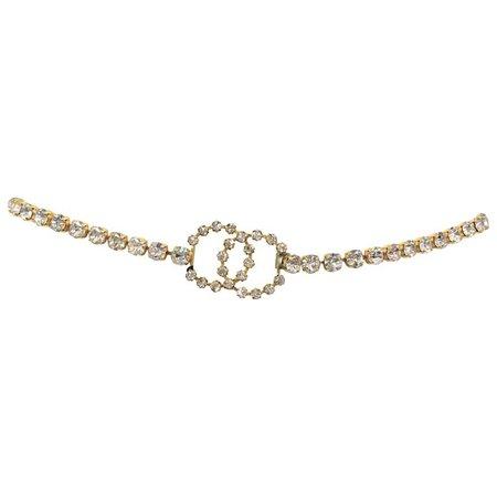 Chanel 1995 A Rhinestone CC Belt | HushHush.com