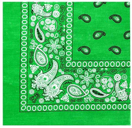 Novelty Paisley Cotton Bandanas - For Headband, Hairband, Hankerchief, Accessories (Lime Green) at Amazon Women's Clothing store