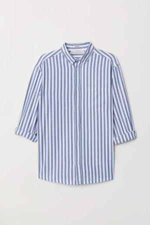 Regular Fit Cotton Shirt - White