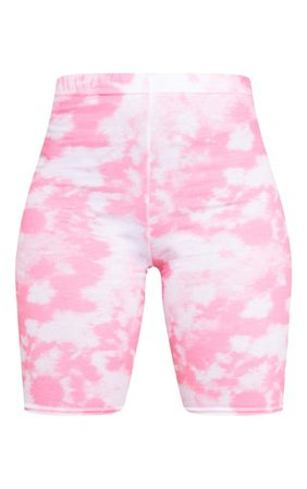 Basic Pink Tie Dye Cycle Shorts | Shorts | PrettyLittleThing
