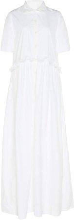 White Masquerade Cotton Maxi Dress