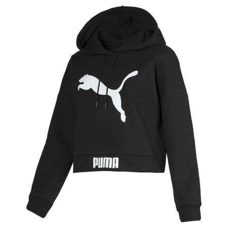 Sweat capuche court pour femme   Puma Black   PUMA Trending Now   PUMA France