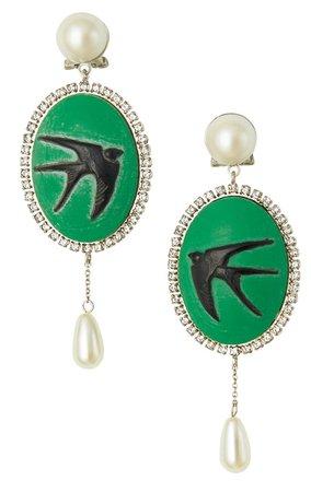 miu miu vintage effect earrings