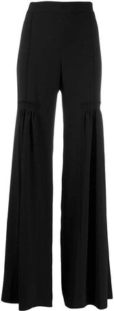 high rise palazzo trousers