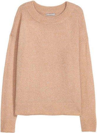 Wool-blend Sweater - Beige