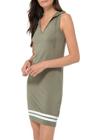 MICHAEL Michael Kors Women's Stripe Hem Sleeveless Dress