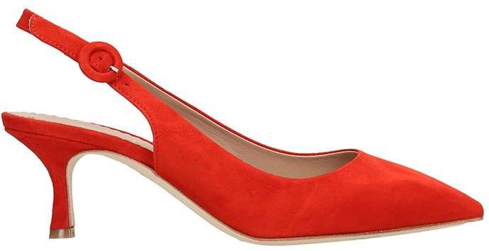 Pumps In Red Suede
