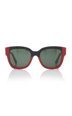 Marni Colorblocked Square Frame Sunglasses