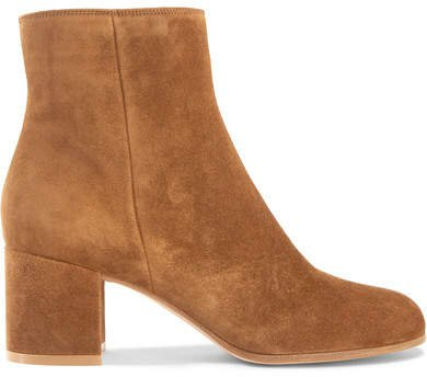 Margaux 65 Suede Ankle Boots - Tan