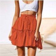 short flowy skirt