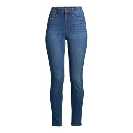 Scoop - Scoop Women's High-Rise Skinny Jeans - Walmart.com - Walmart.com blue