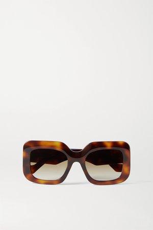 Tortoiseshell Oversized square-frame tortoiseshell acetate sunglasses | Loewe | NET-A-PORTER
