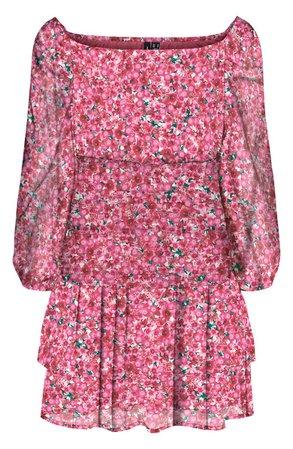 Dicte Off the Shoulder Smocked Minidress   Nordstrom