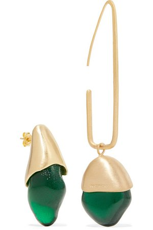 1064 Studio | Gold-plated and resin earrings | NET-A-PORTER.COM