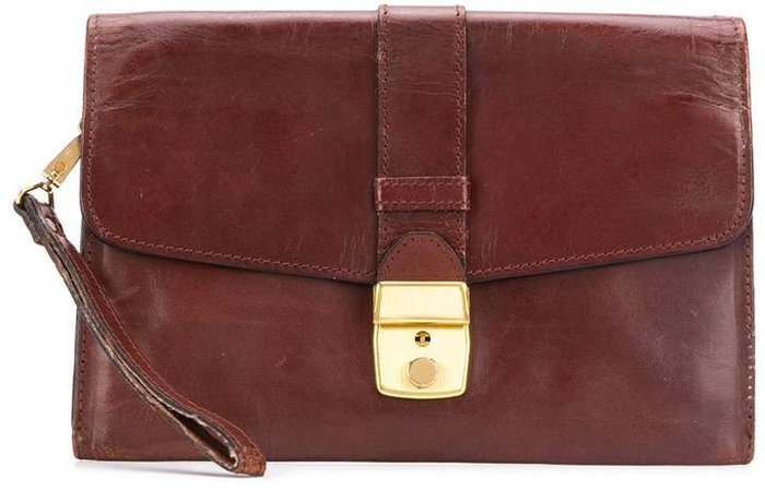 Pre Owned envelope clasp clutch