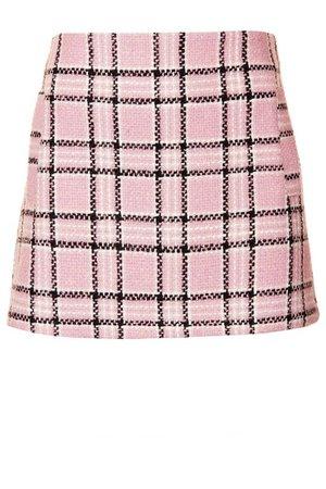 pink plaid skirt