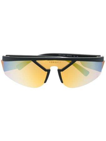 Versace Eyewear mirrored visor sunglasses