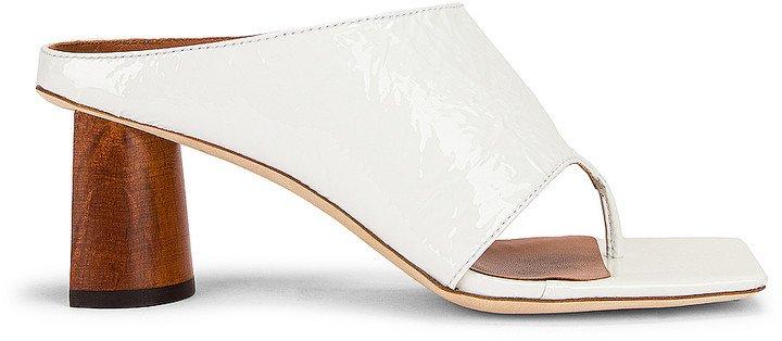 Lina Sandal in Crinkle White | FWRD