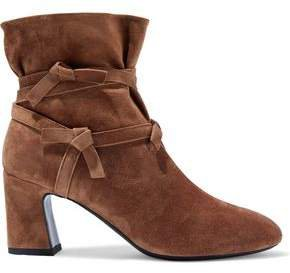 Prismick Knotted Suede Ankle Boots