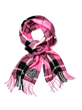 Winter Angel Pink Victoria Plaid Scarf
