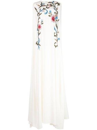 Oscar de la Renta, sequin embellished cape gown
