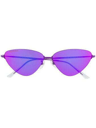 Shop purple Balenciaga Eyewear Invisible Cat sunglasses with Express Delivery - Farfetch