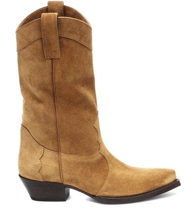 Saint Laurent, Lukas Western suede boots