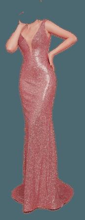 dress shimmer glossy pink