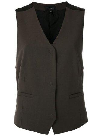 Alcaçuz Ruan wool vest brown & black G640137M9 - Farfetch