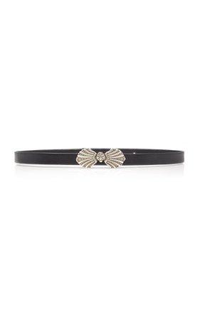 Saloni Shell Plate Leather Belt