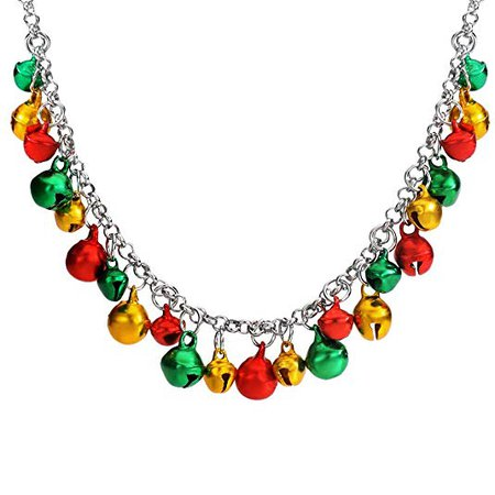 FANSING Christmas Necklaces for Women Jingle Bell Charm Necklaces Gifts Holiday Necklaces for Women Party Jewelry Teens: Jewelry