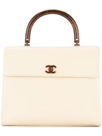 CHANEL PRE-OWNED wooden handle hand bag $7,028 - Buy Online VINTAGE - Quick Shipping, Price