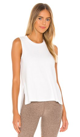 Beyond Yoga Just Chillin Tank in White | REVOLVE