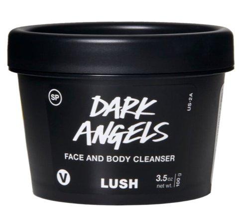 lush dark angels face & body scrub