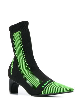 Misbhv Curved-Heel Sock Boots