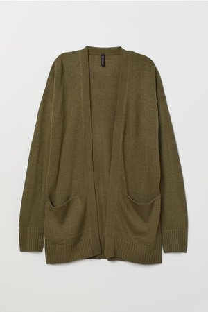 Knit Cardigan - Khaki Green | H&M