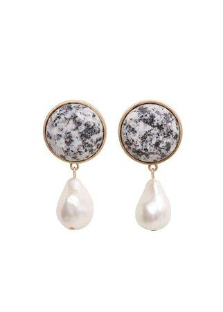 Violeta BY MANGO Stone pendant earrings