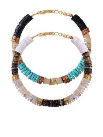 ALLTHEMUST Heishi Beaded Bracelet Set - Farfetch