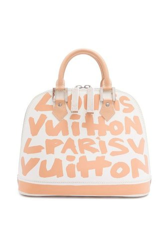 Louis Vuitton x Stephen Sprouse 2001 pre-owned Alma MM tote bag white M92180 - Farfetch