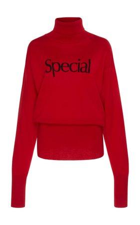 Special Intarsia Highneck Top by Christopher Kane | Moda Operandi