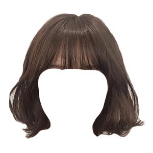 Short Brown Hair Bangs