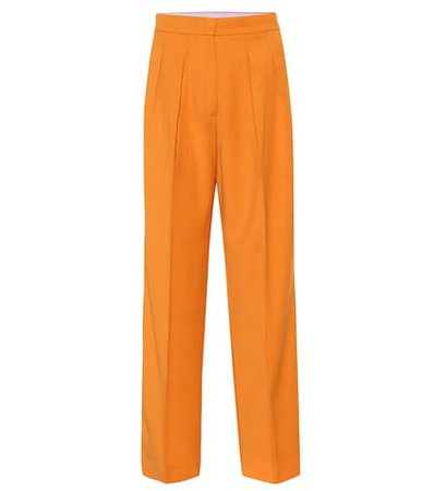 High-rise twill pants