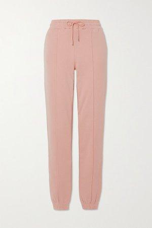 Net Sustain Organic Cotton-jersey Track Pants - Pink