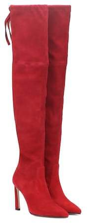 Natalia 100 suede over-the-knee boots