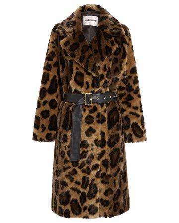 Alexandra Leopard Faux Fur Coat